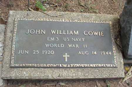 Marker of John William Cowie