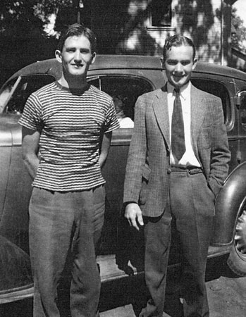 Vernon Clair McLane (left) with brother Victor